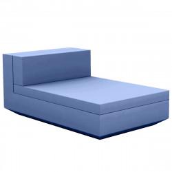 Module central chaise longue canapé Vela, Vondom, 100x160xH72cm bleu marine