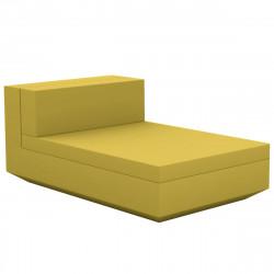 Module central chaise longue canapé Vela, Vondom, 100x160xH72cm vert pistache
