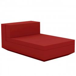 Module central chaise longue canapé Vela, Vondom, 100x160xH72cm rouge