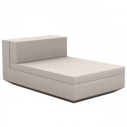 Module central chaise longue canapé Vela, Vondom, 100x160xH72cm taupe