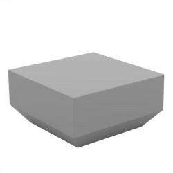 Table basse Vela Chill 60x60xH30cm, Vondom, gris argent