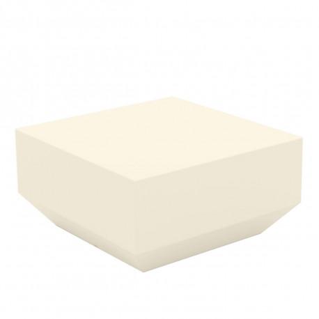 Table basse Vela Chill 60x60xH30 cm, Vondom, écru