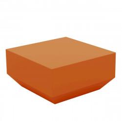 Table basse Vela Chill 60x60xH30 cm, Vondom, orange