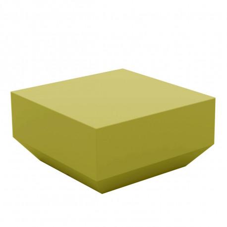 Table basse Vela Chill 60x60xH30 cm, Vondom, vert pistache