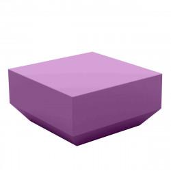 Table basse Vela Chill 60x60xH30 cm, Vondom, violet prune