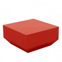 Table basse Vela Chill 60x60xH30 cm, Vondom, rouge