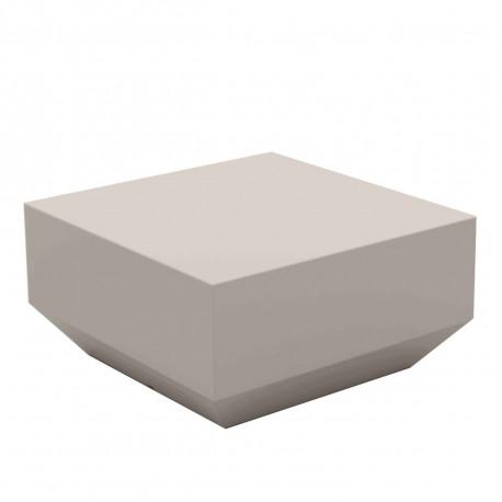 Table basse Vela Chill 60x60xH30 cm, Vondom, taupe