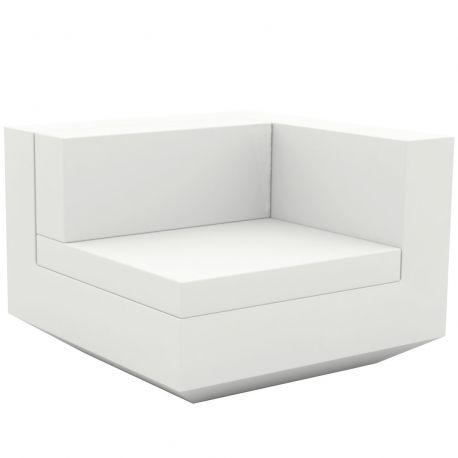 Module gauche canapé Vela, Vondom, 100x100xH72cm blanc
