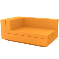 Module gauche chaise longue canapé Vela, Vondom, 100x160xH72cm orange