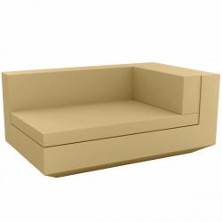 Module droit chaise longue canapé Vela, Vondom, 100x160xH72cm beige