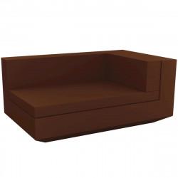 Module droit chaise longue canapé Vela, Vondom, 100x160xH72cm bronze