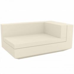 Module droit chaise longue canapé Vela, Vondom, 100x160xH72cm écru