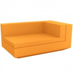 Module droit chaise longue canapé Vela, Vondom, 100x160xH72cm orange