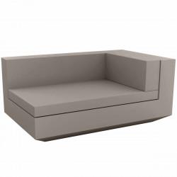 Module droit chaise longue canapé Vela, Vondom, 100x160xH72cm taupe