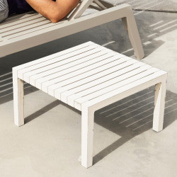 Table basse Lounge Spritz, Vondom blanc, 59x59xH28cm