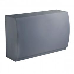 Bar Design Fiesta, module droit 180x80xH115cm, Vondom, Gris Argent
