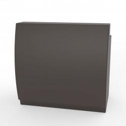 Bar design Fiesta 120, module droit 120x80xH115cm avec plan de travail, Vondom Bronze