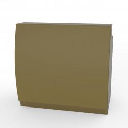 Bar design Fiesta 120, module droit 120x80xH115cm avec plan de travail, Vondom Kaki