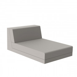 Salon de jardin design Pixel, module chaise longue, Vondom, tissu Silvertex Ecru