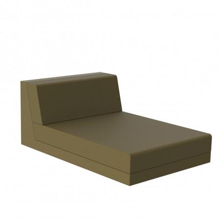 Salon de jardin design Pixel, module chaise longue, Vondom, tissu Silvertex Kaki