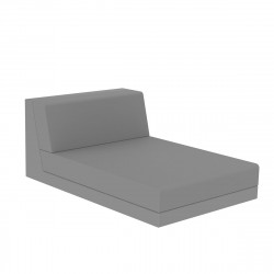 Salon de jardin design Pixel, module chaise longue, Vondom, tissu Silvertex Gris Argent