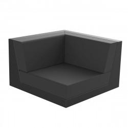 Canapé outdoor modulable Pixel, module gauche, Vondom, tissu Silvertex Noir