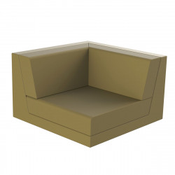 Canapé outdoor modulable Pixel, module gauche, Vondom, tissu Silvertex Kaki