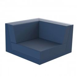 Canapé outdoor modulable Pixel, module gauche, Vondom, tissu Silvertex Bleu Marine
