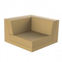 Canapé outdoor modulable Pixel, module gauche, Vondom, tissu Silvertex Beige