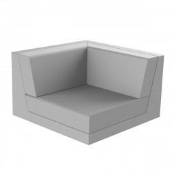 Canapé outdoor modulable Pixel, module gauche, Vondom, tissu Silvertex Gris Argent