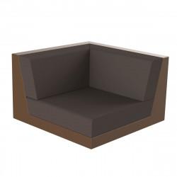 Canapé outdoor modulable Pixel, module gauche, Vondom, tissu Silvertex Bronze