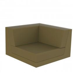 Canapé composable outdoor Pixel, module d'angle, Vondom, tissu Silvertex Kaki
