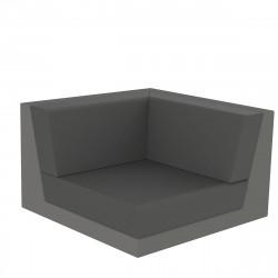 Canapé composable outdoor Pixel, module d'angle, Vondom, tissu Silvertex Gris Anthracite