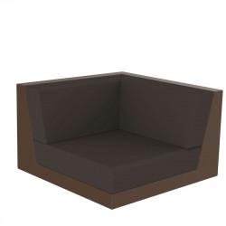 Canapé composable outdoor Pixel, module d'angle, Vondom, tissu Silvertex Bronze