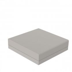 Pouf canapé outdoor design Pixel, Vondom, tissu Silvertex Ecru