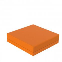 Pouf canapé outdoor design Pixel, Vondom, tissu Silvertex Orange
