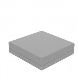 Pouf canapé outdoor design Pixel, Vondom, tissu Silvertex Gris acier