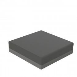 Pouf canapé outdoor design Pixel, Vondom, tissu Silvertex Gris anthracite