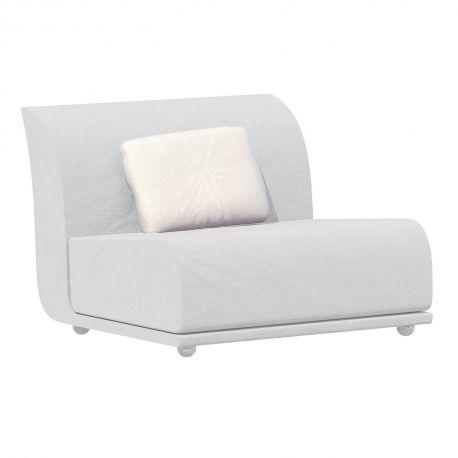 Salon de jardin modulable Suave, module central, Vondom, tissu déperlant blanc Snow 1041