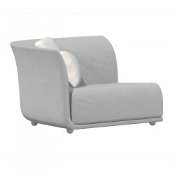 Canapé extérieur design Suave, module droit, Vondom, tissu déperlant blanc Iceberg 1037