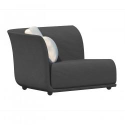 Canapé extérieur design Suave, module droit, Vondom, tissu déperlant Grey 1043