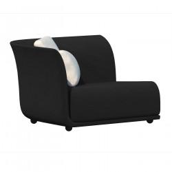 Canapé extérieur design Suave, module droit, Vondom, tissu déperlant Gris anthracite 1044