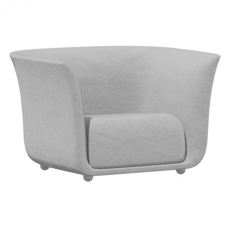 Fauteuil extérieur design Suave, Vondom, tissu déperlant blanc Iceberg 1037