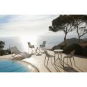 Lot de 4 Chaises Ibiza en plastique recyclé avec accoudoirs, Vondom beige Cala 4021