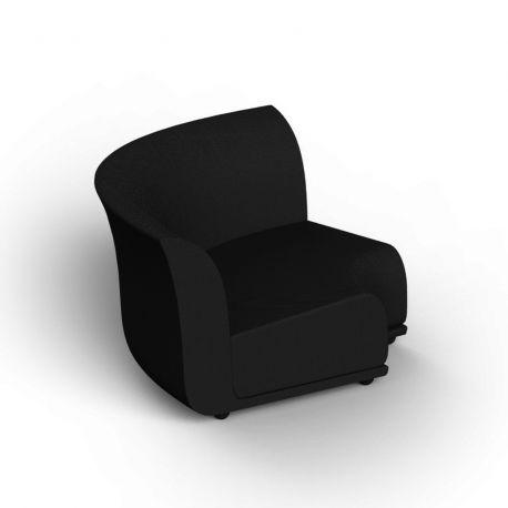 Canapé extérieur design Suave, module d'angle, Vondom, tissu déperlant gris Anthracite 1044