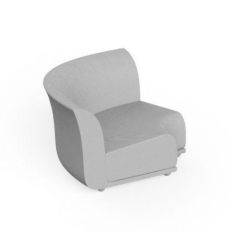 Canapé extérieur design Suave, module d'angle, Vondom, tissu déperlant blanc Iceberg 1037