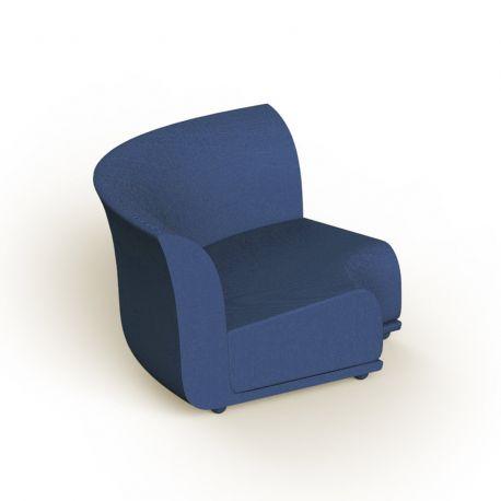 Canapé extérieur design Suave, module d'angle, Vondom, tissu déperlant bleu Outre-Mer 1002