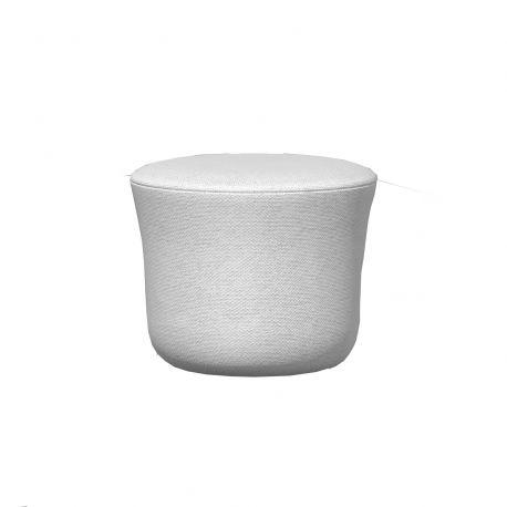 Pouf Suave déperlant diamètre 45cm, Vondom, blanc Snow 1041