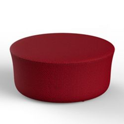 Pouf rond déperlant Suave, diamètre 85cm, Vondom, rouge Grenade 1046