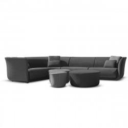 Ensemble canapé d'angle outdoor Suave, Vondom, tissu déperlant Grey 1043 et Gris Steel 1042